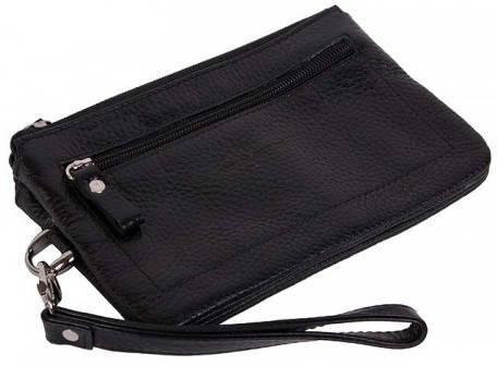 Комфортная женская борсетка-кошелек Vip Collection 1516A flat черный