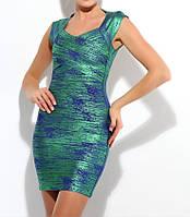 Платье Herve Leger бандажное зеленое