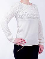 Женская нарядная кофточка белого цвета