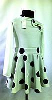 """Трикотажное платье """"Горох-2"""" для девочек от 6 до 13 лет (32-40 размер)"""