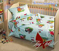 Постельное белье TAG Весёлые фрукты-2 в кроватку для новорожденных