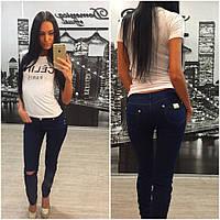 """Модные женские джинсы отличного качества """"Темно-синие"""" 42-60р"""