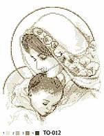 Барвиста Вишиванка ТО-012 Мария с дитям в медном цвете, схема для вышивания бисером