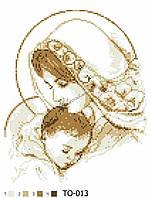 Барвиста Вишиванка ТО-013 Мария сдитям в золотом цвете, схема для вышивания бисером