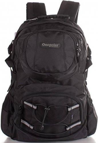 Мужской городской рюкзак с отделением для ноутбука 24 л. Onepolar W1312-black черный