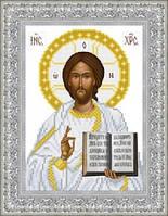 ТО-040 Венчальная икона Господь Вседержитель 16х22. Барвиста вишиванка. Схема на ткани для вышивания
