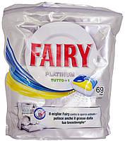Капсулы для посудомоечной машины Fairy Platinum Tutto in1 Lemon 69 caps