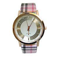 """Часы женские кварцевые наручные """"Burberry style"""" золотистый корпус"""