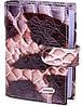 Деловая женская кожаная визитница DESISAN (ДЕСИСАН) SHI115-10LZM коричневый