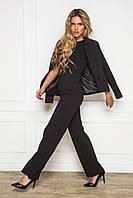 Черные женские прямые брюки