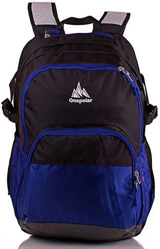 Удобный мужской рюкзак 28 л. ONEPOLAR (ВАНПОЛАР) W1988-blue синий