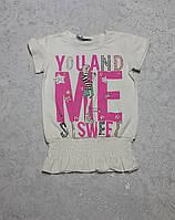 Летняя подростковая футболка для девочек Н-К