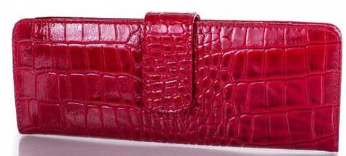 Яркая женская кожаная визитница CANPELLINI (КАНПЕЛЛИНИ) SHI124-1KR (красный)