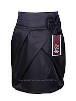 Красивая черная юбка для девочки КАРАНДАШ размеры 134,152