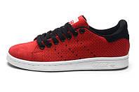 Женские кроссовки Adidas Stan Smith (адидас стен смит) красные