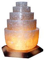 """Соляной светильник """"Пагода круглая"""" 3-4кг размеры: h21см*12см*12см Провод с регулятором, индивидуальная упаков"""