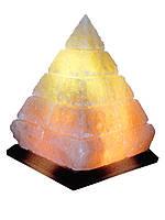 """Соляной светильник """"Пирамида египетская""""5кг размеры: h25см*20см*20см Провод с регулятором, индивидуальная упак"""