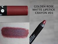 Матовая стойкая помада-карандаш Golden Rose Matte Lipstick Crayon 01