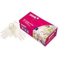 Перчатки одноразовые виниловые L 100шт. York Y-092410