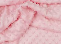 Лоскут ткани minky М-6 размером 40*40 см, цвет розовый