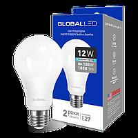 Светодиодная лампа GLOBAL 12W 220V E27 166, 165 (яркий, мягкий свет)