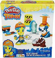 Игровой набор Город: Дорожный рабочий и щенок Play-Doh