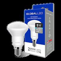 Светодиодная лампа GLOBAL 5w R50 220V E14 154, 153 (яркий, мягкий свет)