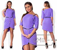 Красивое асимметричное платье в больших размерах (в расцветках) s-1515418