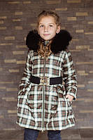 Детское теплое пальто с юбкой, зима и деми; размеры от 86 до 152