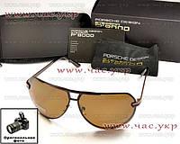 Мужские солнцезащитные очки Porsche Design Polarized коричневые поляризация порше дизайн порш