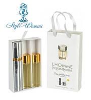 Набор мужской мини парфюмерии Yves Saint Laurent L`Homme Ив Сен Лоран Эль Хом с феромонами3*15мл