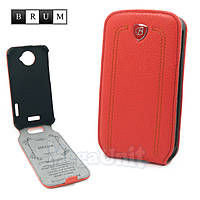 Brum Premium Кожаный чехол для HTC One X (s720e) (No.24 watermelon red)