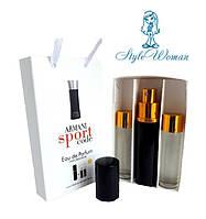 Набор мужской мини парфюмерии Giorgio Armani Code Sport Джорджио Армани Код Спорт с феромонами3*15мл