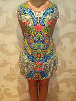 Женская ночная рубашка-туника с орнаментом