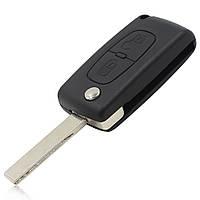 Корпус выкидного ключа 2 кнопки Fiat Scudo с держателем батарейки