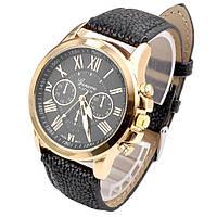 Кварцевые наручные часы Jeneva Schwarz Platinum
