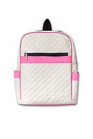 Рюкзачок стеганый Нина кремовый/розовый. Разные цвета