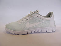Кроссовки мужские  Nike Free Run 3.0 сетка, белые  (найк фри ран)р.43,44