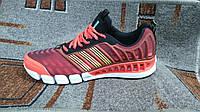 Мужские беговые кроссовки Adidas ClimaCool бордовые с красным