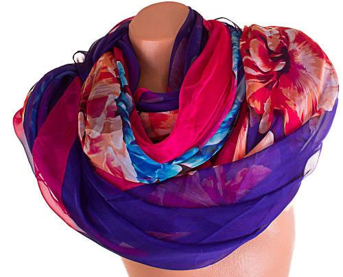 Роскошный женский шарф из шифона 200 на 142 см. ETERNO (ЭТЕРНО) P-P-48