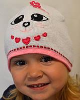 Шапочка для девочек сделана котелочком, фото 1