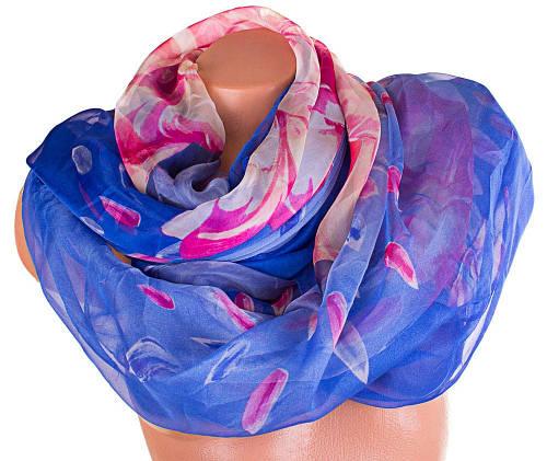 Женский прекрасный шарф из шифона 186 на 107 см. ETERNO (ЭТЕРНО) P-P-46