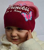 Трикотажная шапочка для девочки до 12 лет, фото 1