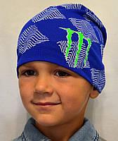 Детская трикотажная шапочка с логотипом, фото 1