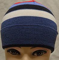 Детская вязаная шапочка с отворотиком, фото 1