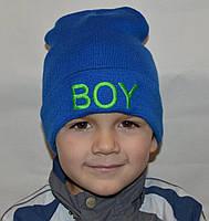 Детская вязаная шапочка BOY, фото 1