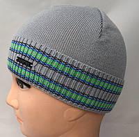 Модная вязанная шапочка с полосками, фото 1