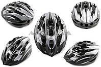 "Шлем кросс-кантри   ""VV""   (size:M, черно-серый)"