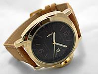 Мужские часы Panerai Luminor GMT ceramica золотистые с черным циферблатом