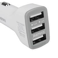 Автомобильная зарядка Remax на 3 USB (3,6A) длинная  версия